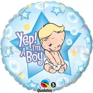 "Balon foliowy 18"" ""Yep! I'm a Boy"""