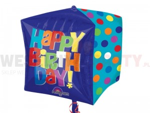"Balon foliowy 15 x 16"" ""Happy Birthday"" kwadrat"