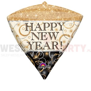 "Balon foliowy 15""x17"" ""Diamondz Happy New Year"""