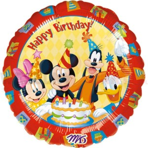 "Balon foliowy 18'' ""Mickey Happy Birthday"""