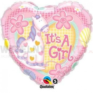 "Balon foliowy 18"" ""It's a Girl"""