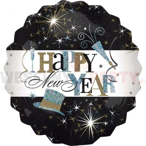 "Balon foliowy 28""  ""Happy New Year"""