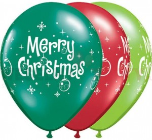 "Balony pastel 14"" mix "" Merry Christmas"""