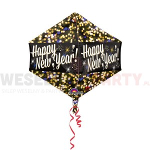 "Balon foliowy 17x21"" ""Happy new Year"""