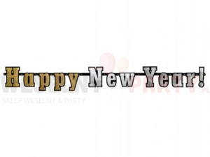 "Baner holograficzny ""Happy New Year!"""