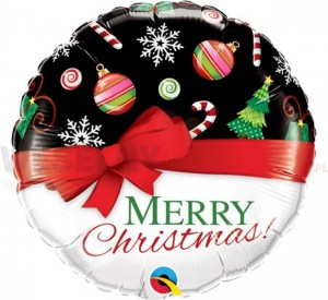 "Balon foliowy 18"" "" Merry Christmas"""