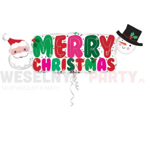"Balon foliowy 41""x16"" ""Merry Christmas"""