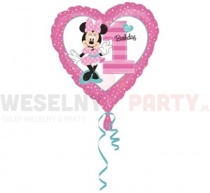 "Balon foliowy 18"" ""Minnie Mouse 1st Birthday"""