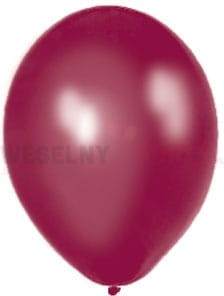 "Balony 14"" bordowe, metalik"