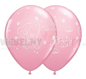 "Balon 14"" pastel ""Me To You Tatty Baby Girl"" różowy"