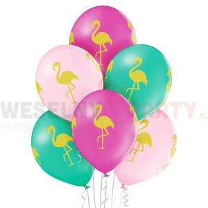 "Balony 14"" pastel ""Flamingi"""
