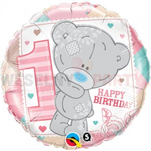 "Balon foliowy 18"" "" Tiny Tatty 1ST Teddy Baby Girl"""