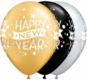 "Balony 14"" metalic mix ""Happy New Year"""