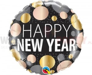"Balon foliowy 18"" ""Happy New Year"""