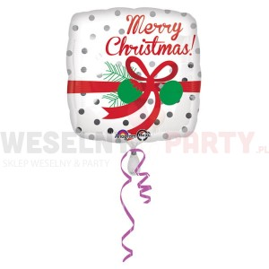 "Balon foliowy 17"" ""Merry Christmas"""