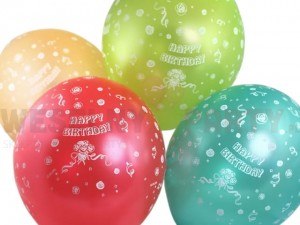 "Balony 14"" Metalik Mix ""Happy birthday """